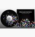 cd design in disco stars style vector image