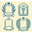 four labels vector image vector image
