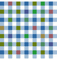 blue gingham mix seamless pattern