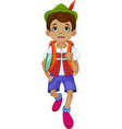 pinocchio going to school vector image vector image