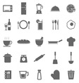 Kitchen icons on white background vector image vector image