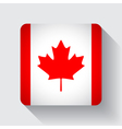 Web button with flag of Canada vector image