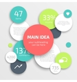 Circle business Infographics design template vector image vector image