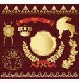 heraldic symbols vector image vector image