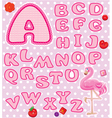 lace pink abc 380 vector image vector image