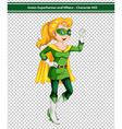 Green Superhero vector image
