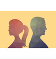 Man and woman vector image vector image