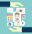 Concept of Customer Relationship Management vector image vector image