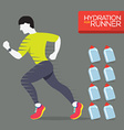 Runner With Hydration Bottles vector image vector image