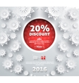 Winter Discount Best Choice Design Flat vector image