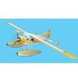 Retro seaplane vector image