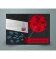 Brochure for blood research laboratory vector image