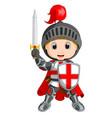 cartoon knight boy vector image