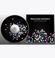 cd design in disco stars style vector image