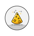 cheese flat line icon vector image
