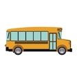 colorful silhouette with school bus vector image