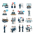 Conference Icons Flat vector image