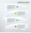 flyer template layout insurance services vector image