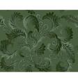 green foliate pattern vector image