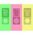label for organic cosmetics shampoo vector image