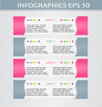 Modern infographic pink and grey design template vector image