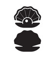 pearl oyster outline icon vector image
