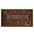 School board doodle with science symbols vector image