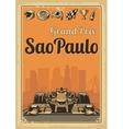 Vintage poster Grand Prix Sao Paulo vector image