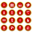 painting icon red circle set vector image