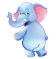 A cute young elephant vector image vector image