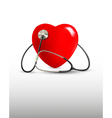 Background with a stethoscope and a heart vector image vector image