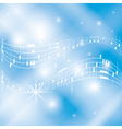 blue and white musical background vector image vector image