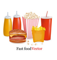 fast-food background vector image vector image