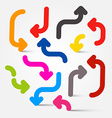 Colorful Arrows Set vector image vector image