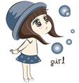 littlegirlblowingtheball vector image