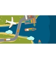 a cargo port in flat style vector image