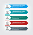 business point infographic in professional colors vector image