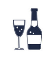 champagne bottle isolated icon vector image