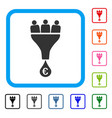euro sales funnel framed icon vector image