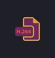 H264 computer symbol vector image