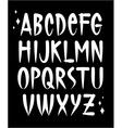 Hand written old school tattoo style font alphabet vector image