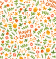Happy Easter flower pattern vector image