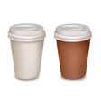 Plastic coffee cups vector image