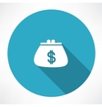 Purse with dollar icon vector image