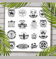 summer designs on tropical beach background vector image