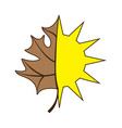 sun and leaf vector image