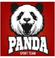 Panda Template for Pandas sport team logo vector image