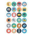 Office Flat Icons 1 vector image