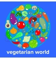concept of the day vegetarian - a range of vector image