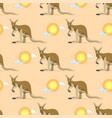 australian animal kangaroo seamless pattern vector image